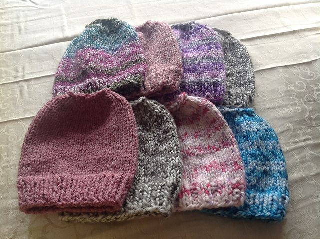 A Very Simple Knit Messy Bun Beanie Using Bulky Weight Yarn This