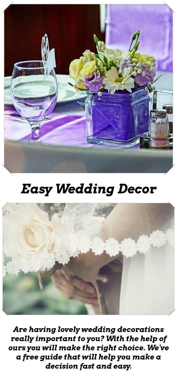 Wedding decorations to make  Decoration Ideas For Your Wedding  Pinterest  Romantic wedding