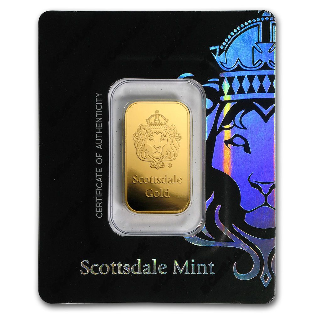 Details About 10 Gram Gold Bar Scottsdale Mint In Certi Lock Assay Black Sku 171695 With Images Gold Bars For Sale Gold Bar