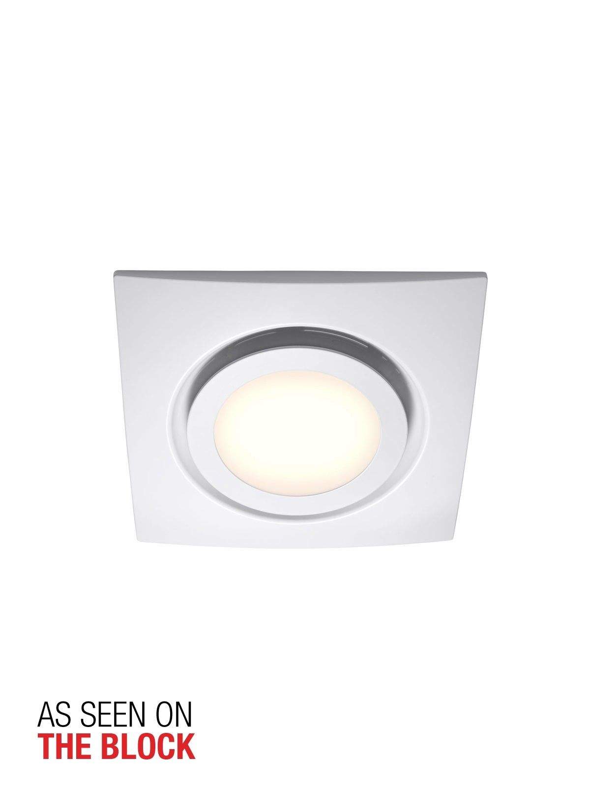 white exhaust fan with led light (avec images) | deco salle