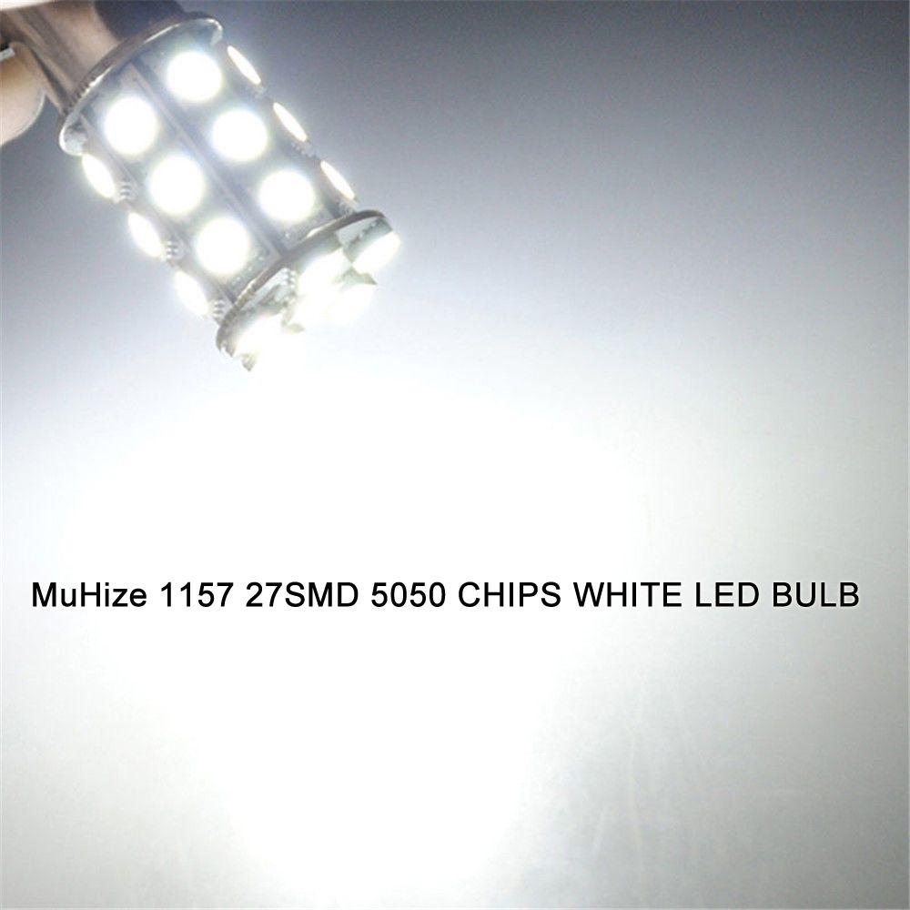 1156 Car LED Bulbs MuHize 6000K White Upgrade Version 50SMD DC 12V,