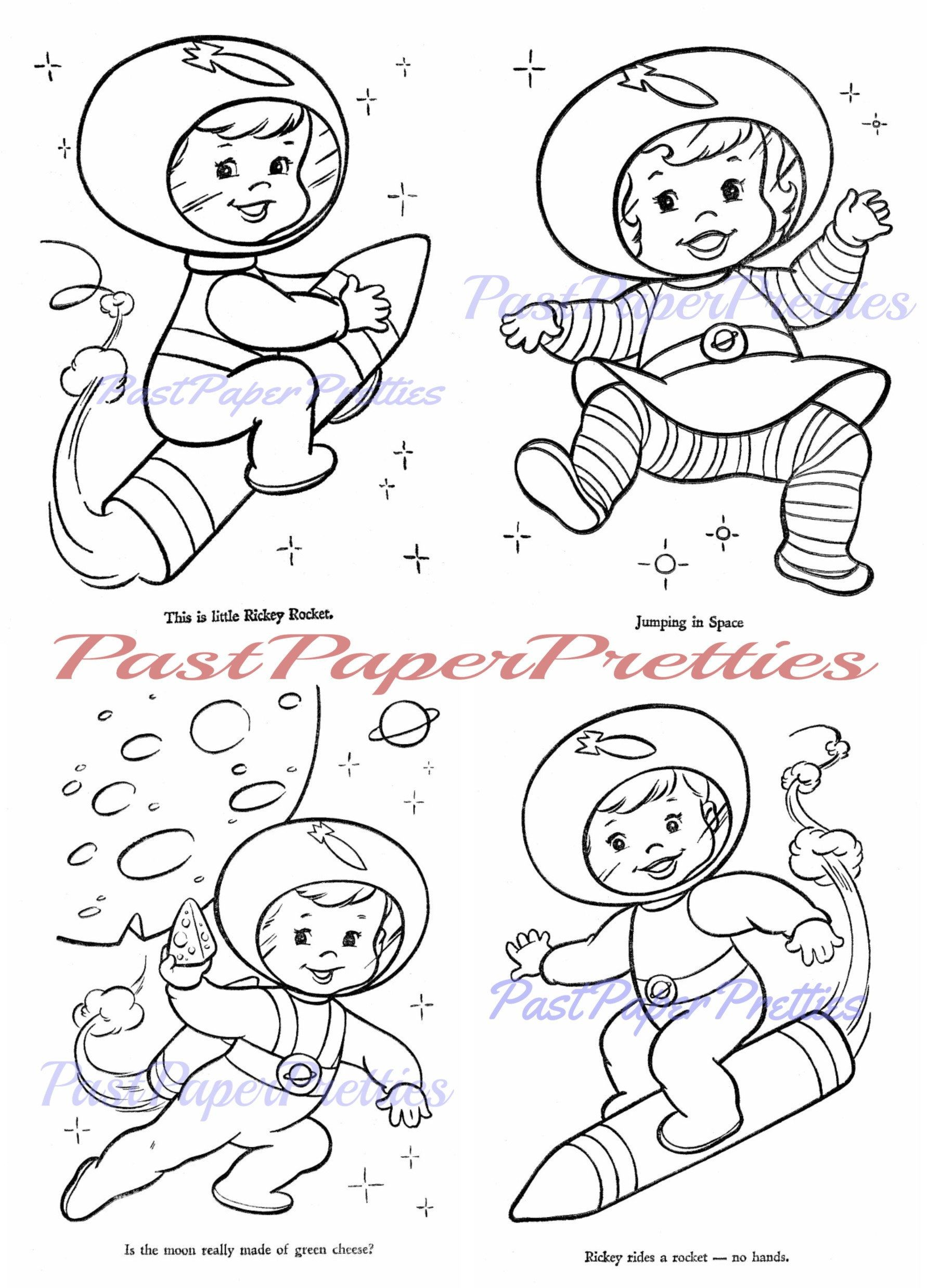 Vintage Printable Coloring Book Pages Hi Flyer C 1966 Pdf Etsy Printable Coloring Book Coloring Books Coloring Book Pages
