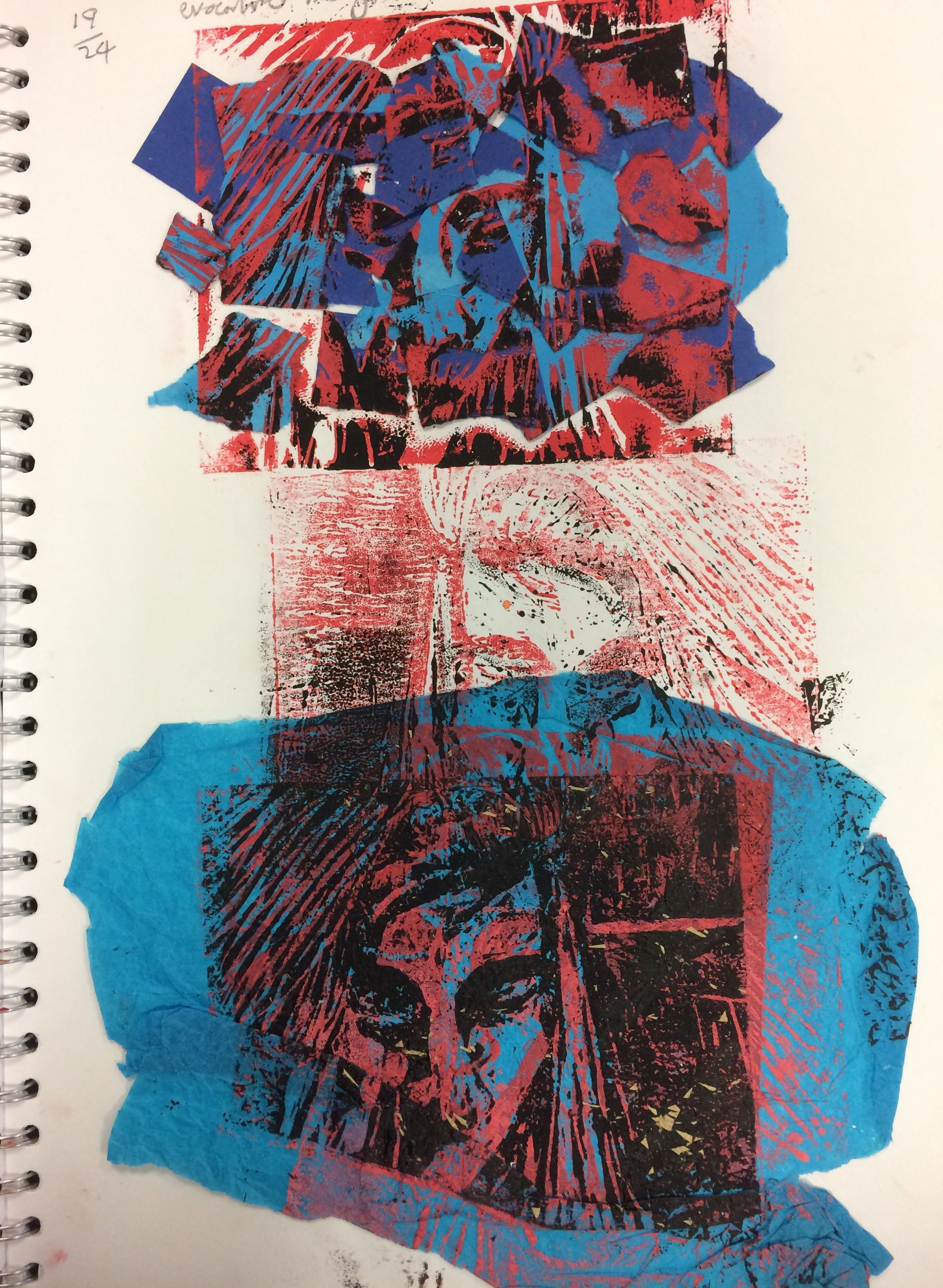 Isobel, Lino printing experience for the GCSE Portfolio Project ...
