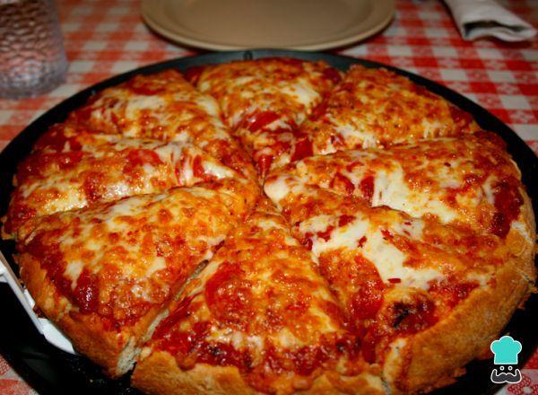 Receta De Pizza Cuatro Quesos Con Thermomix Receta Recetas De
