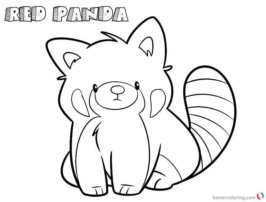 Baby Red Panda Coloring Page With Images Panda Coloring Pages
