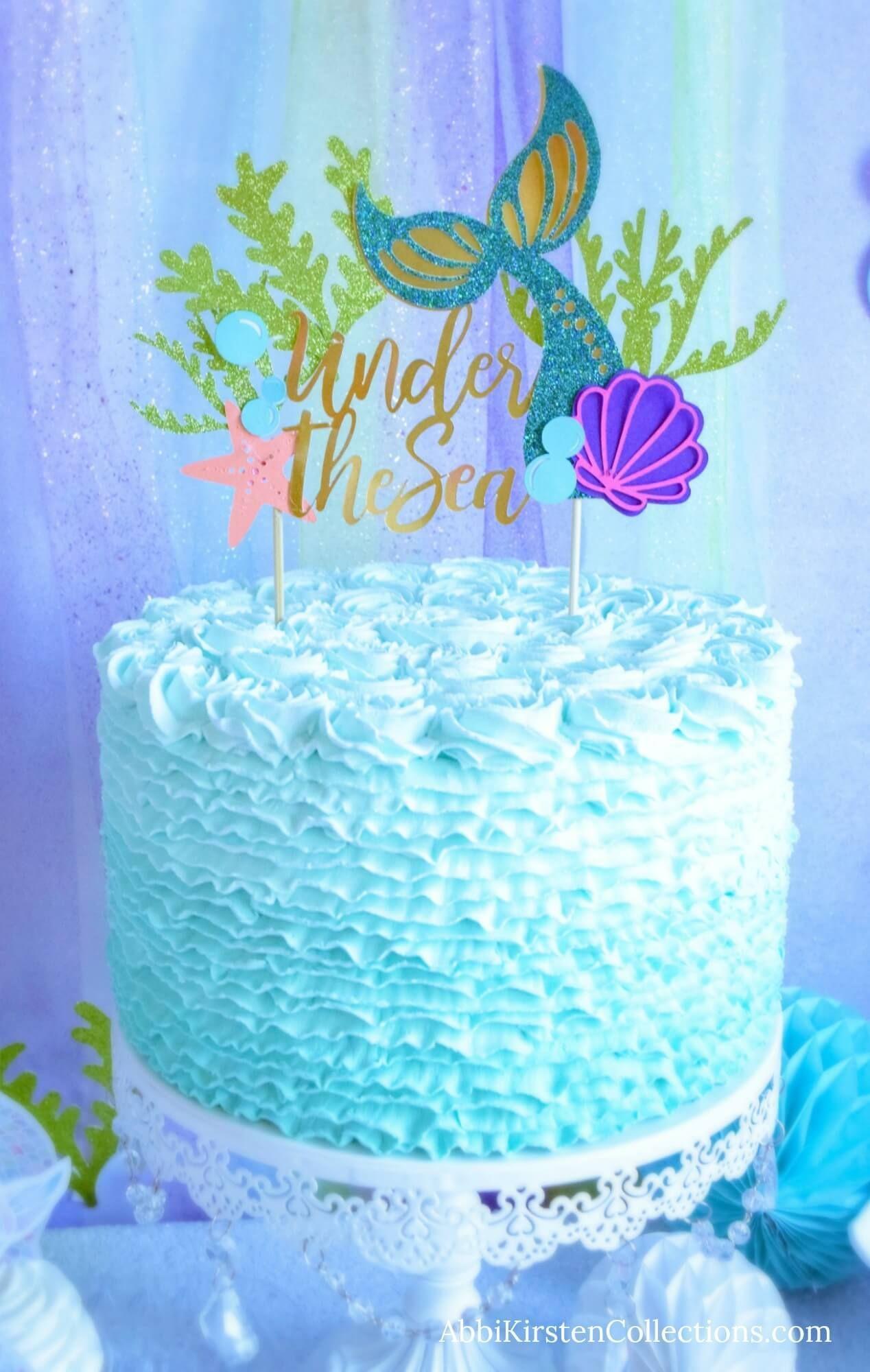 Mermaid Tail Cake Topper Diy Birthday Cake Topper Tutorial Diy