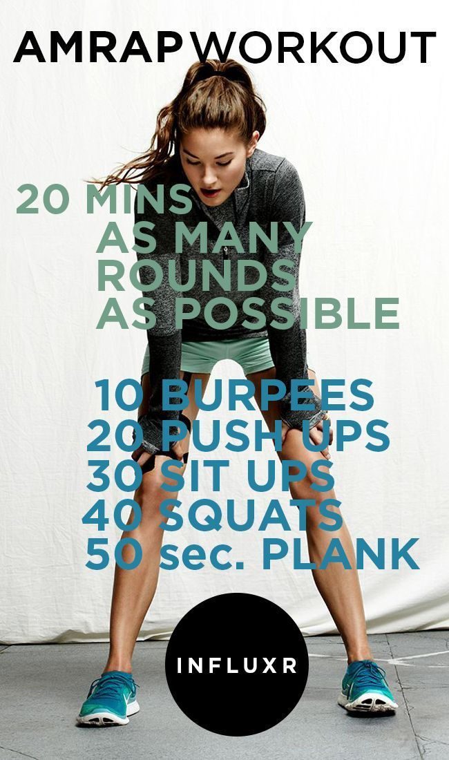 20-Min AMRAP Workout - no equipment required
