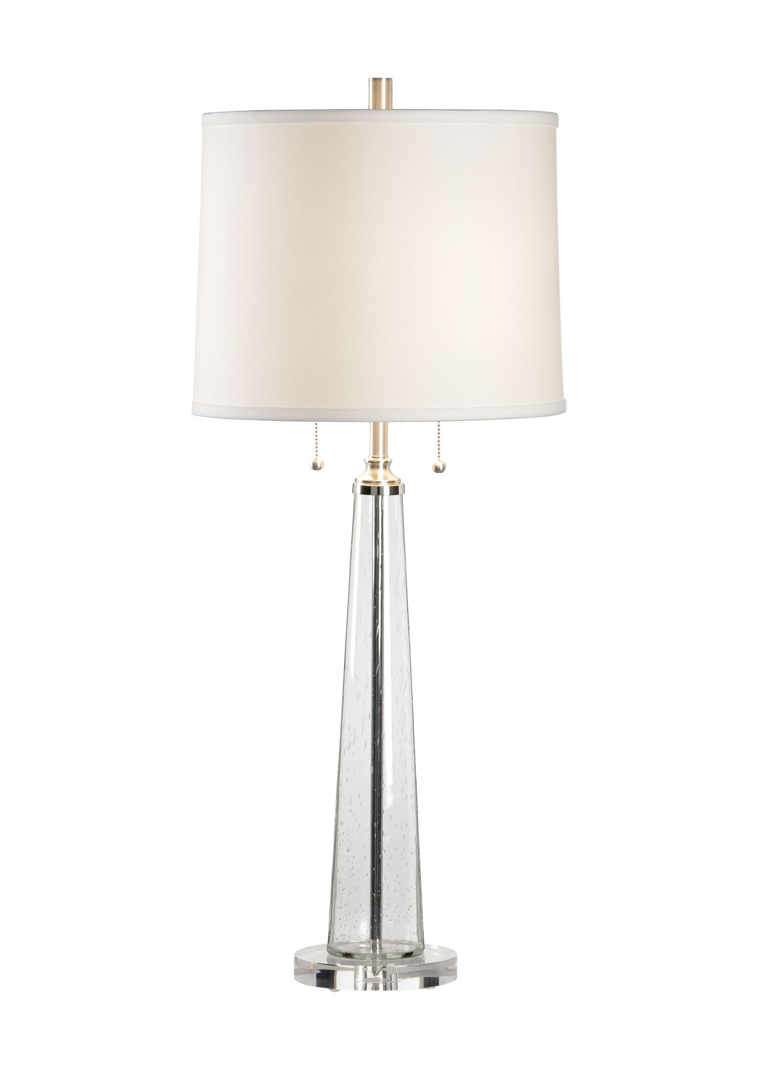 Chelsea House Lamp From Lisa Kahn Collection In Gl With Linen Shade Showroom