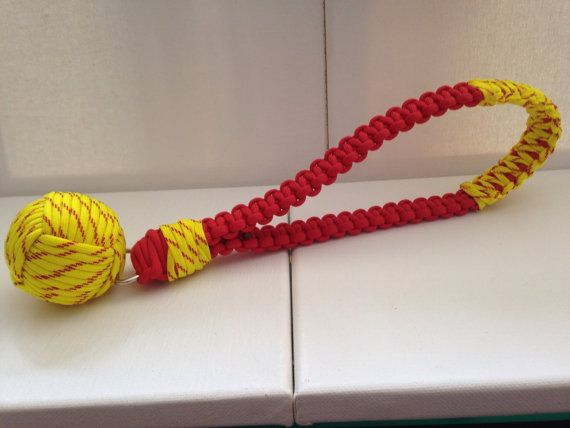 Paracord Durable Dog Toy Monkey S Fist Toy By Knotonlyparacord
