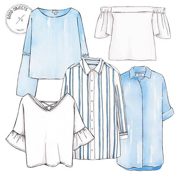 Good objects - Let's talk about shirts... #goodobjects #watercolor #illustration