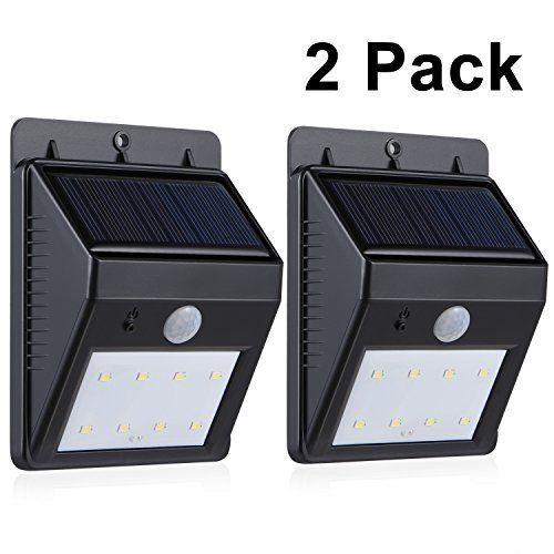 Adorictm 2pack solar lights with 8 leds wireless security light adorictm 2pack solar lights with 8 leds wireless security light outdoor motion sensor activated lighting for workwithnaturefo