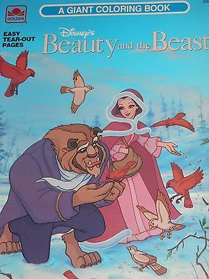 disneys beauty and the beast giant coloring book 1991 golden book ebay - Giant Coloring Book