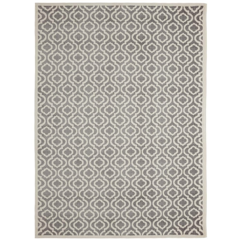 Diagona Designs Alpina Collection Gray And Ivory 2 Ft 7 In X 9 Ft 10 In Moroccan Trellis Runner Rug Alp9013 3x10 The Home Depot Rugs Area Rugs Colorful Rugs