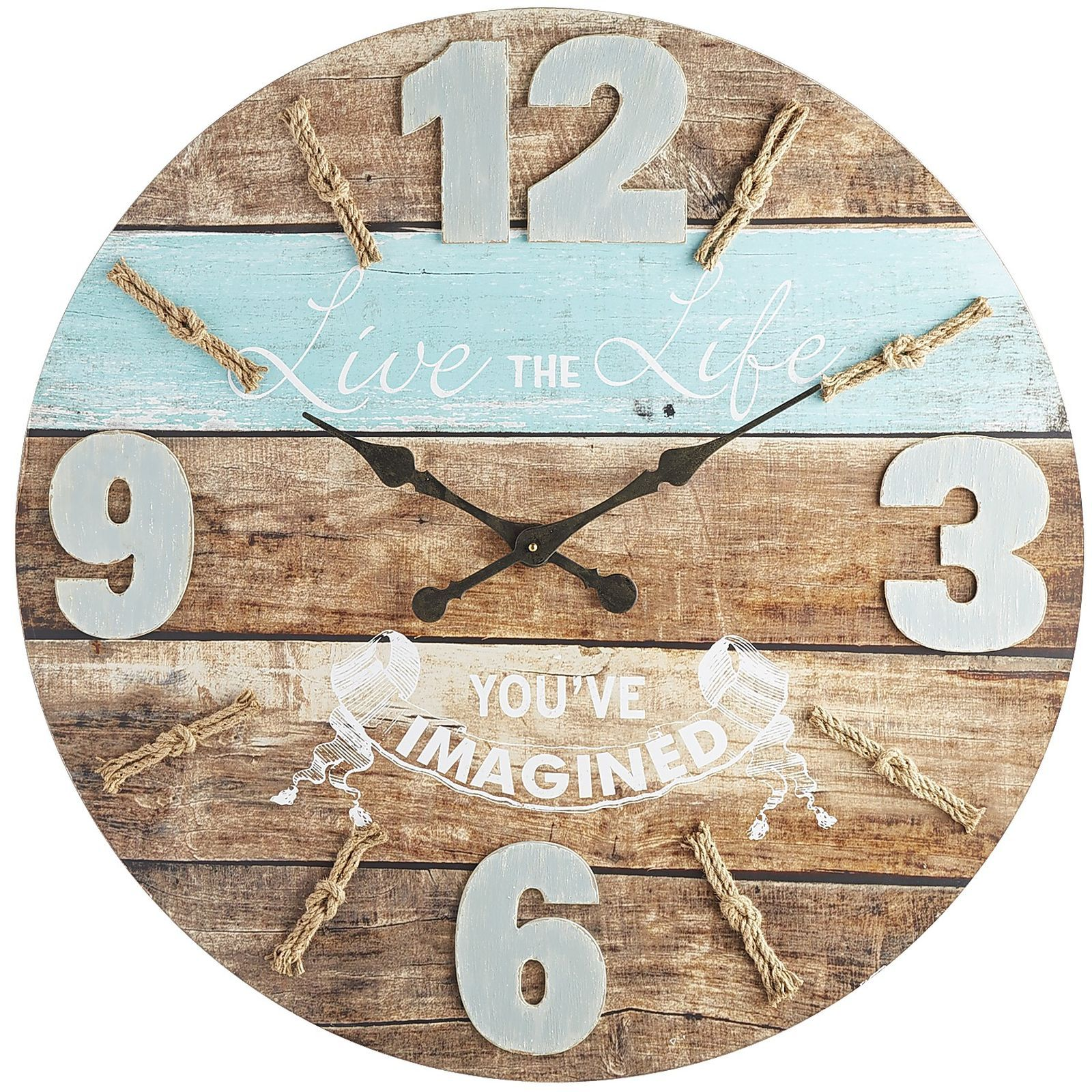 A Timely Reminder To Live The Life Youu0027ve Imagined. Our Beautifully  Distressed Wood Clock Looks Like It Was Made From A Ship Of Dreams.