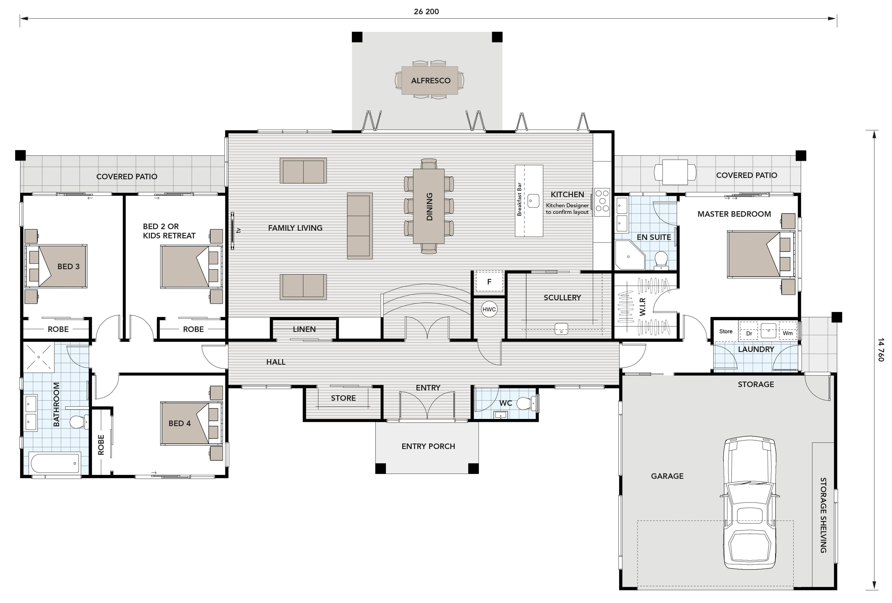 Matai 255 Ikon Homes Bedroom House Plans House Blueprints House Floor Plans