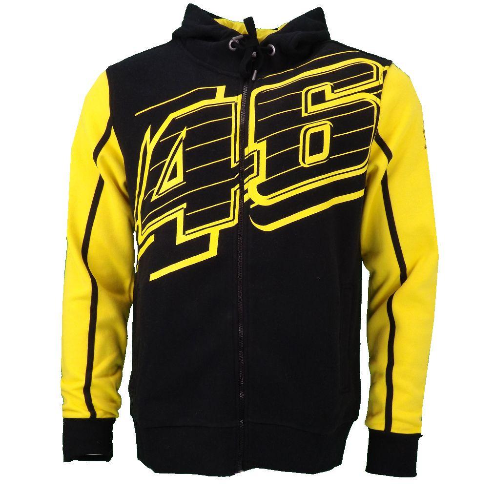 Valentino Rossi Vr46 Logo 46 Moto Gp Hoodie Black Official 2016 Vr46 Valentino Rossi Valentino Rossi Racing Shirts