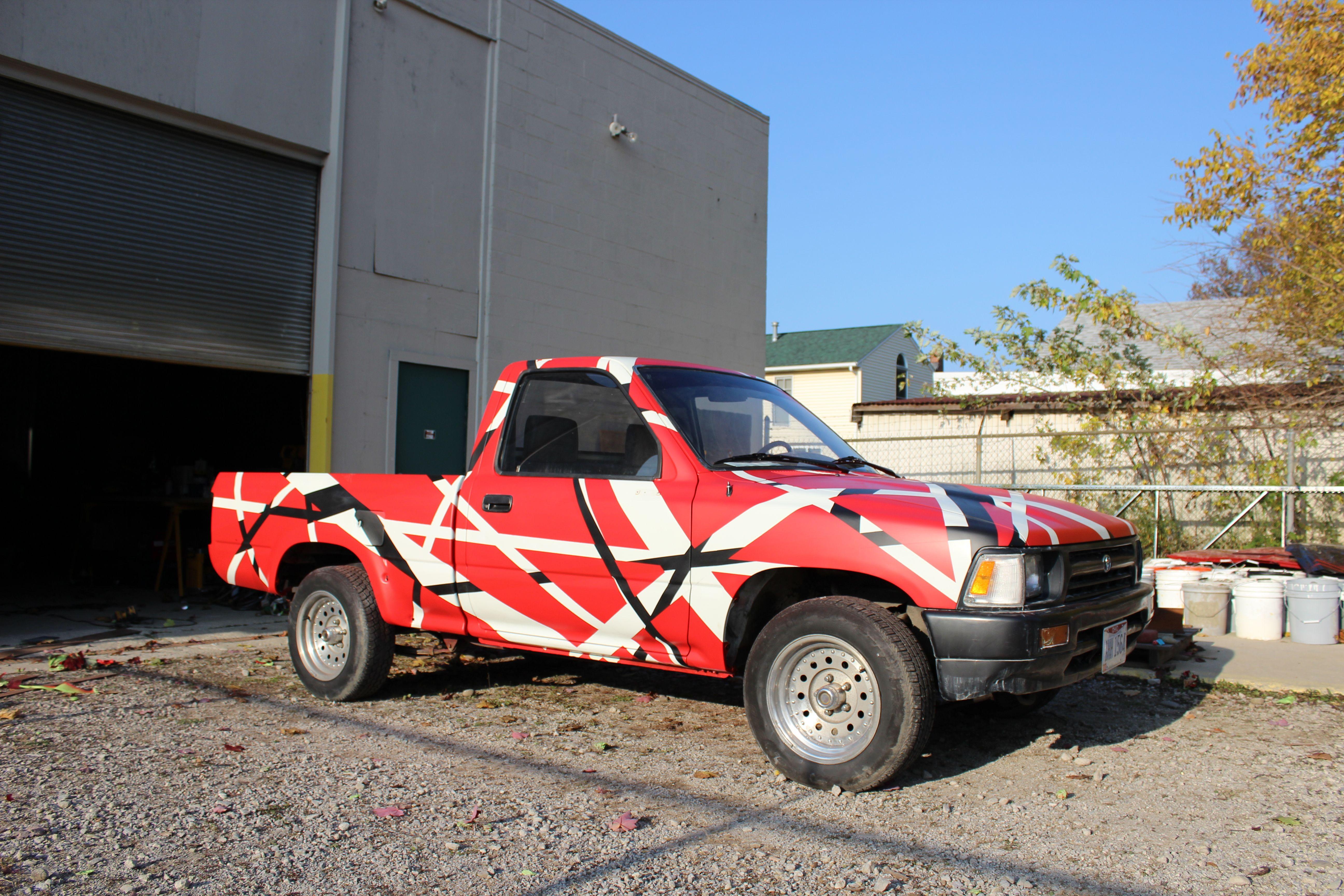 Van Halen Pick Up Truck Project X Humphrey Industries Spray Paint Artwork Spray Paint Projects Car Spray Paint