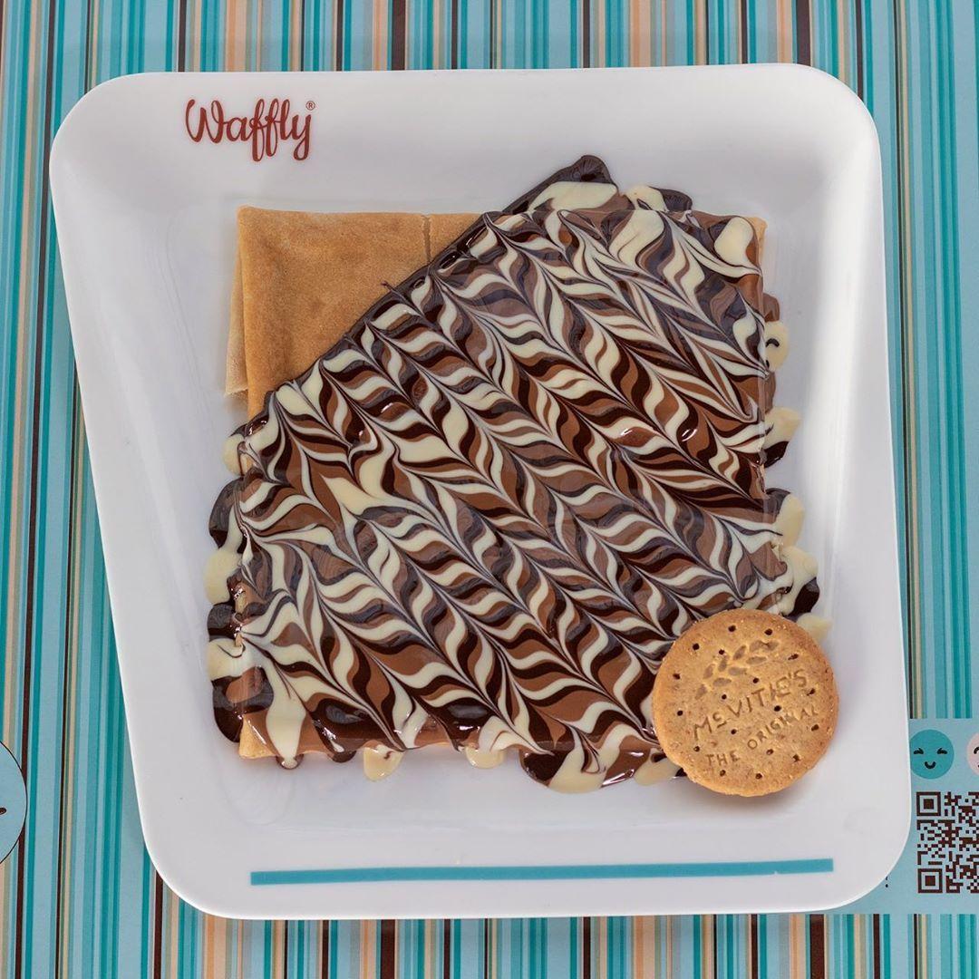 Digestive Crepe دايجستف كريب وافلي كافوري بانكيك بان كيك وافل كريب شوكولاتة الخرطوم السودان Waffly Kafo Waffles Chocolate Food