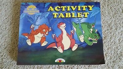 The Land Before Time Vintage Coloring Activity Tablet Book Landoll S Rare Fun