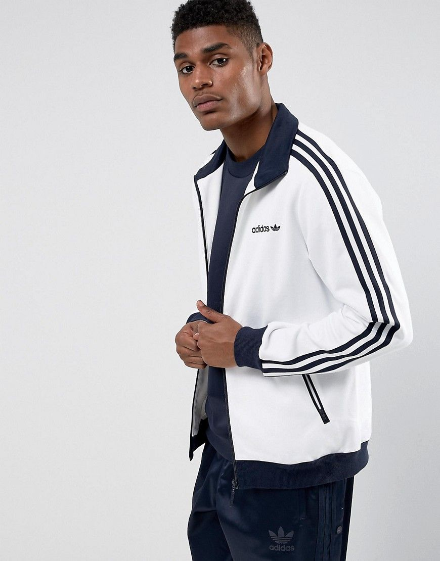 adidas Originals Beckenbauer Track Jacket In White BR4222
