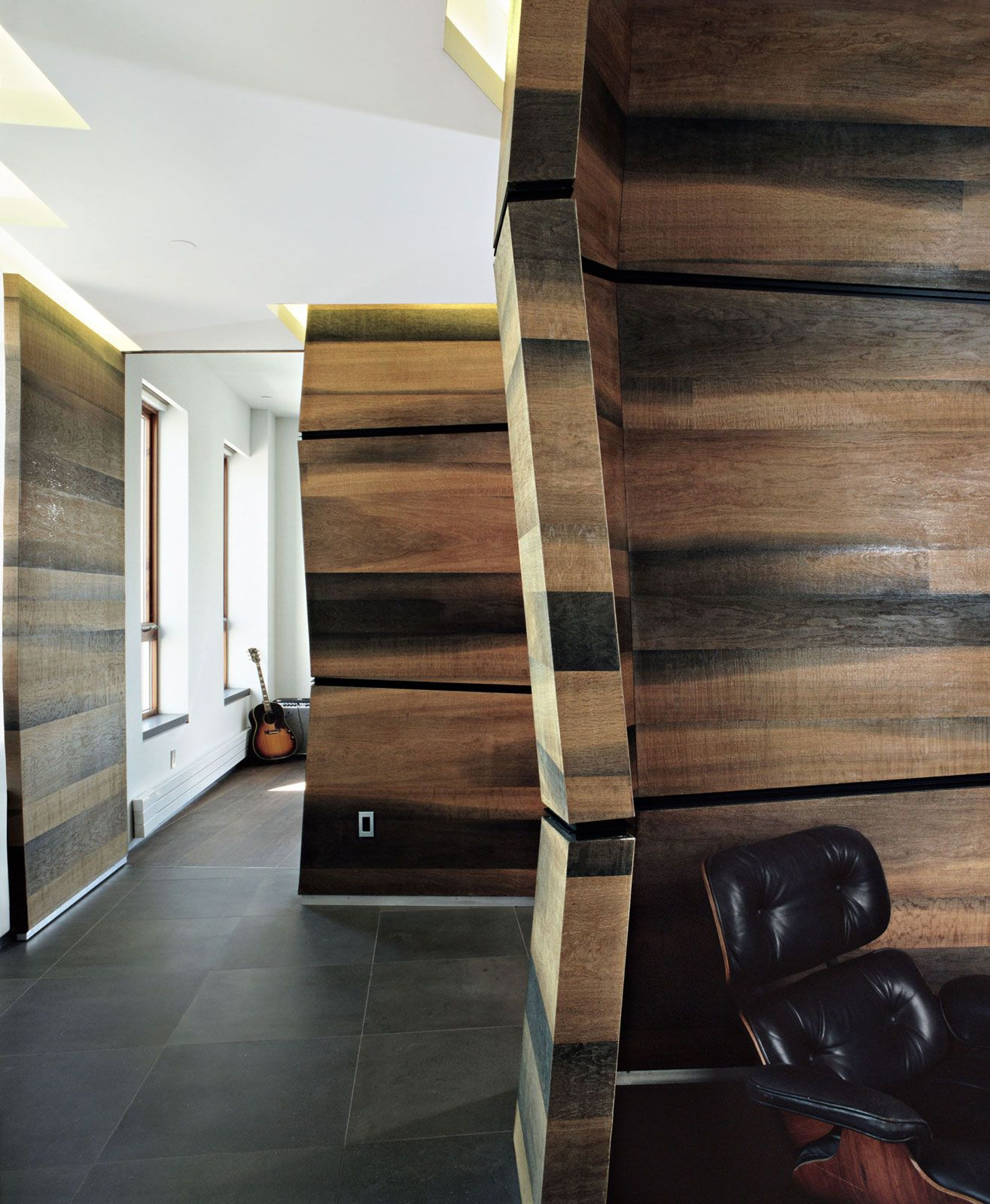 Classy Design Wood Loft Wall Interior Design In A Former Warehous Schein  Loft By Archi