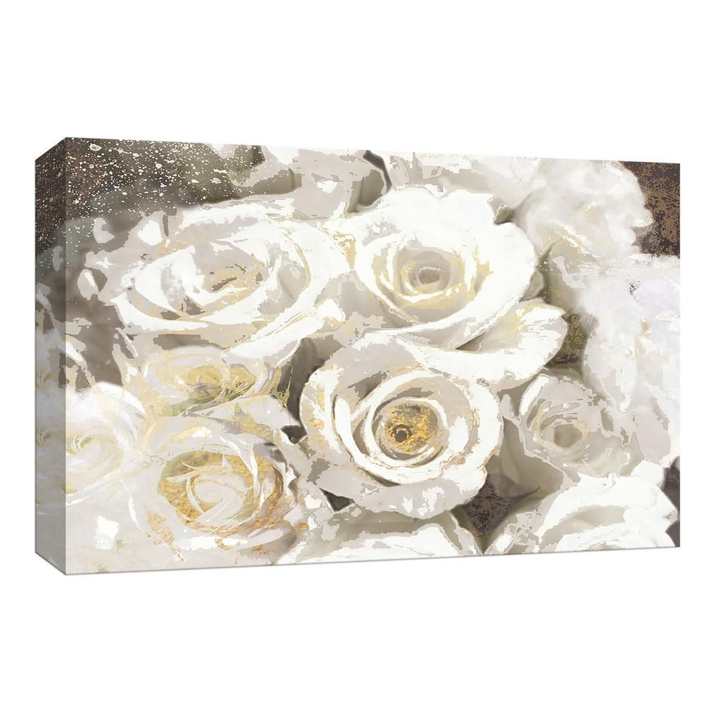 Ptm Images 10 In X 12 In Guilded Roses Ii By Canvas Wall Art