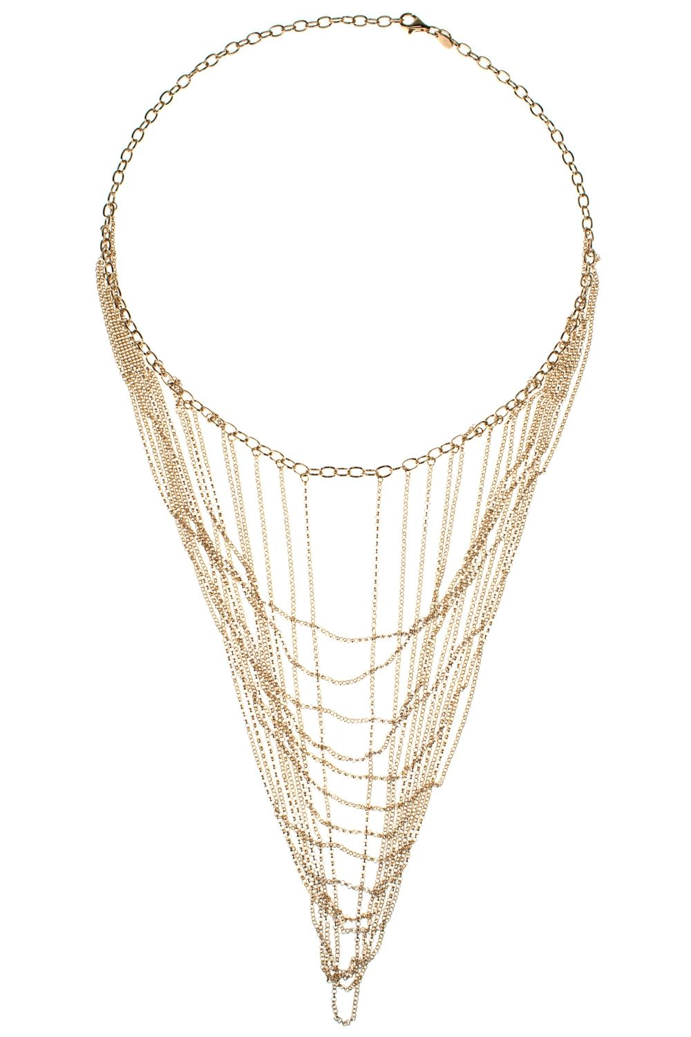 this gorgeous #necklace is a multitude of very fine chains looped up into the links of the main chain I NEWONE-SHOP.COM