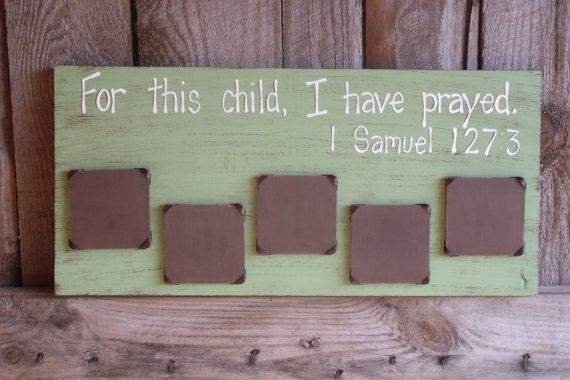 For This Child, I Have Prayed Picture Photo Frame Custom ...