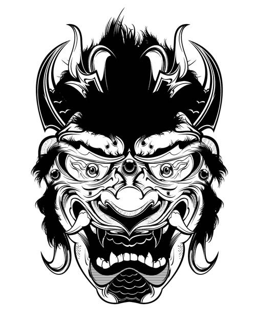 asian demon art asian art art demon art tattoo designs
