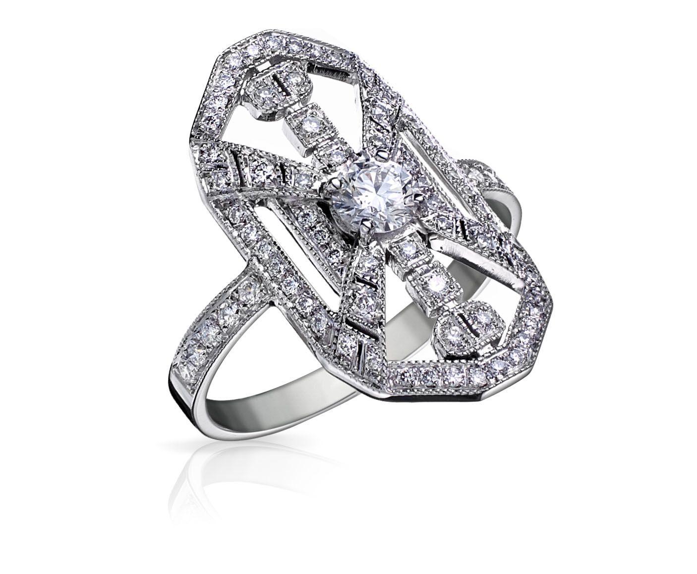 bague diamant style art deco
