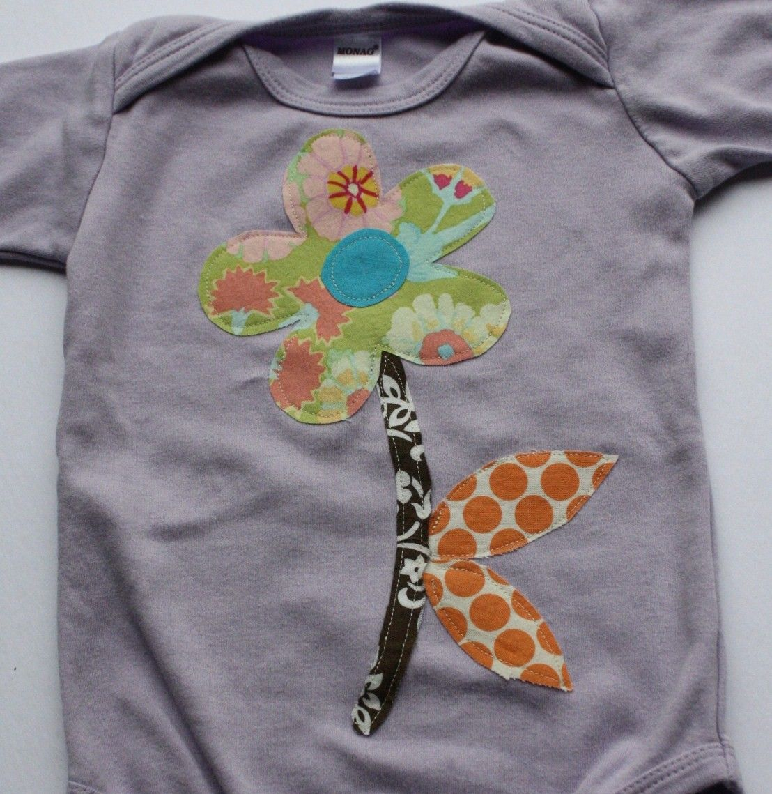 Flower Applique Onesie or T-shirt   Sewing, Knitting, Crafting ...