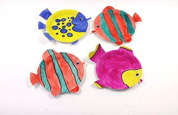Blog - Wummelkiste - Basteltipp: Fischpappteller