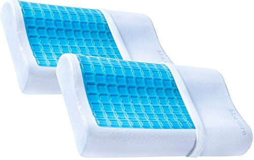2 Pack Pharmedoc Contour Memory Foam Pillows With Cooli