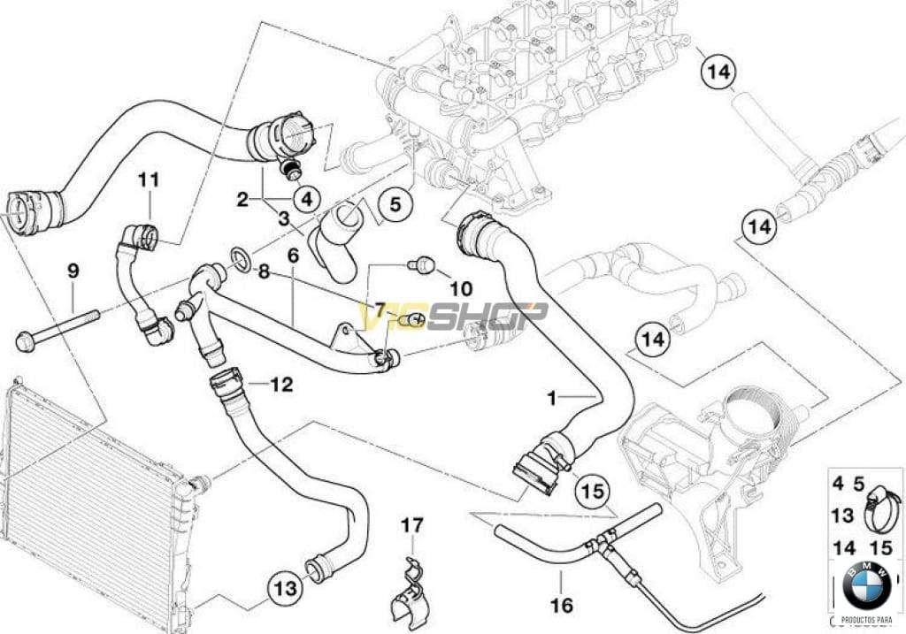 Tubo de retorno BMW original para BMW E39 y E46. Original