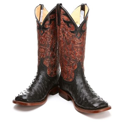 Bootdaddy Collection With Anderson Bean Black Ostrich