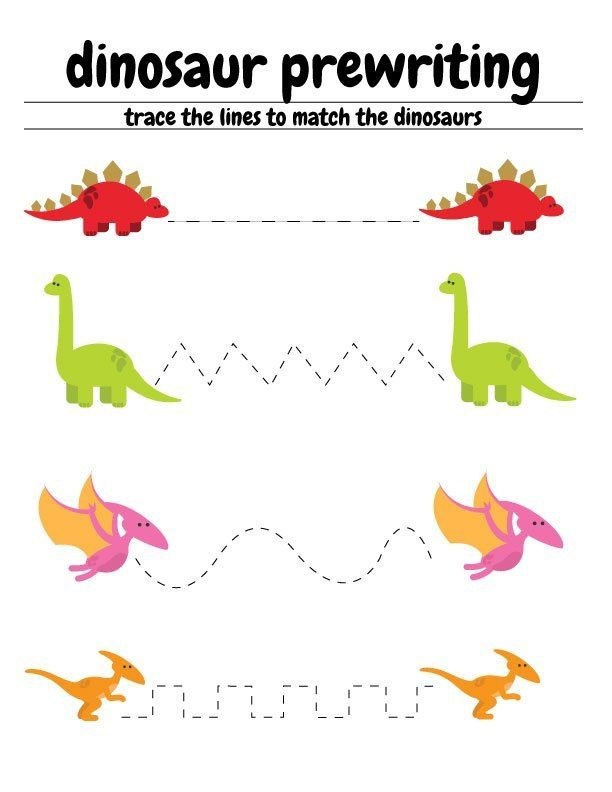 Free Dinosaur Preschool Worksheets – The B Keeps Us Honest #dinosaur