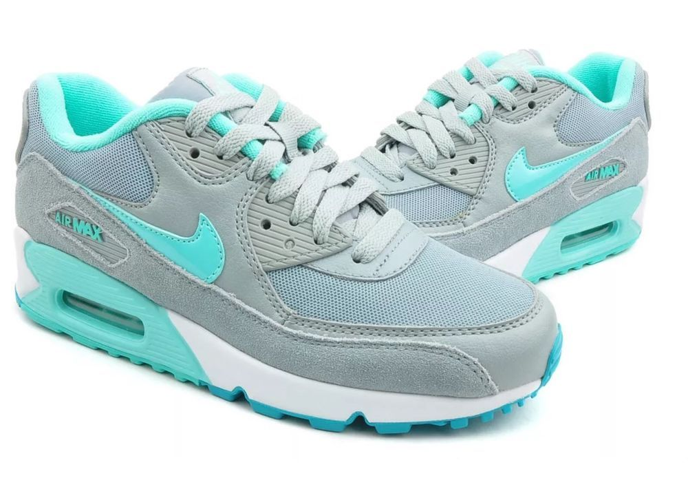Nike Air Max 90 Essential Grey Turquoise 616730 011 Women's