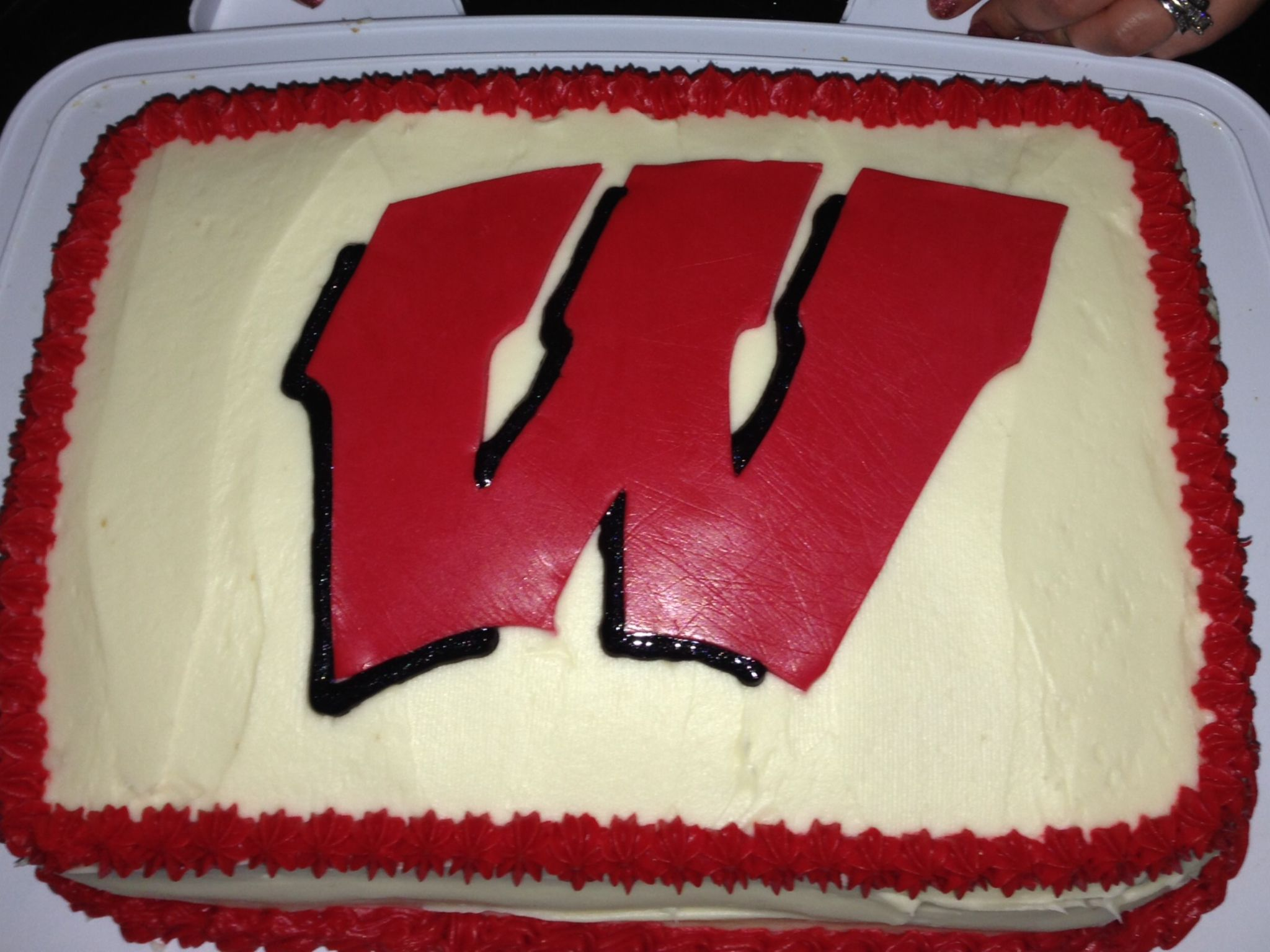 Wisconsin Badger Birthday Cake For Lindsay And Davels 31st Birthday