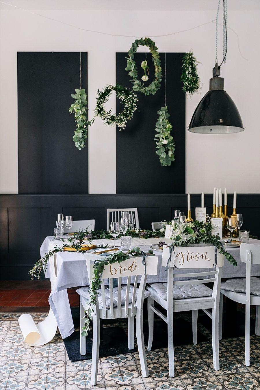 Dusty Blue Fine Art Hochzeitsideen Tischdeko Hochzeit
