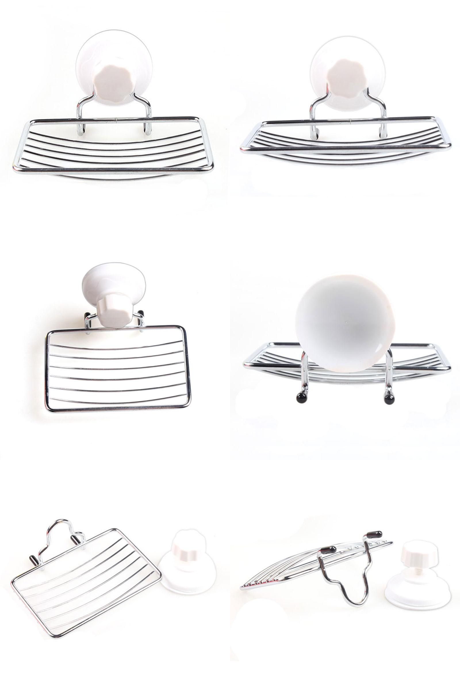 Bathroom Accessories With Suction Cups visit to buy] suction cup soap holder plastic and metal soap dish