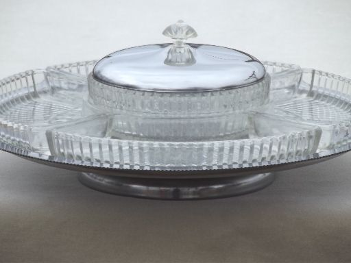 Vintage Kromex Chrome And Glass Lazy Susan | LAZY SUSANS | Pinterest |  Kitchens