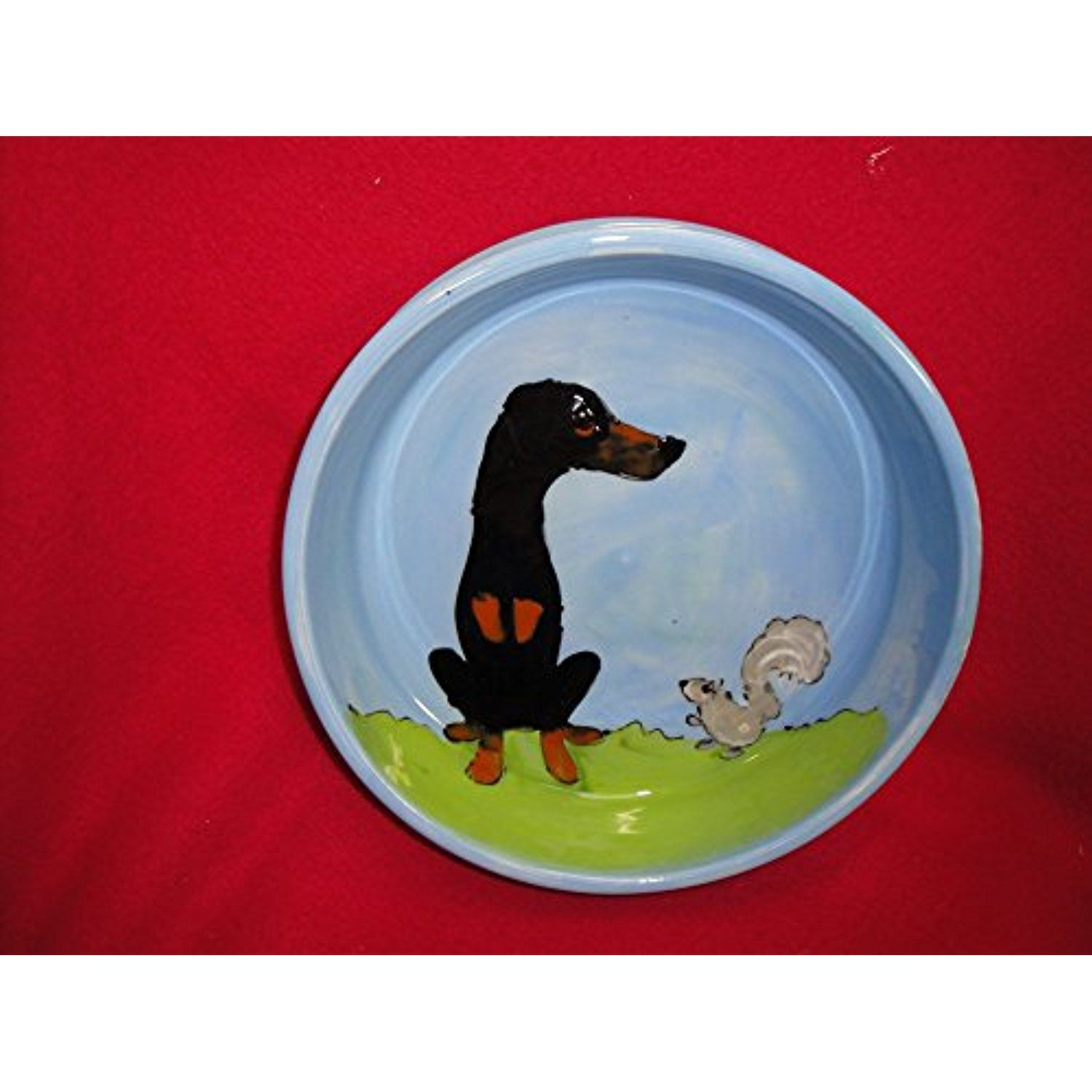 Doberman Pinscher 10 Dog Bowl For Food Or Water Personalized At