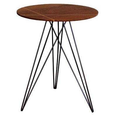 Tronk Design Hudson End Table Base Color Black Top Color Walnut End Tables Antique End Tables Table