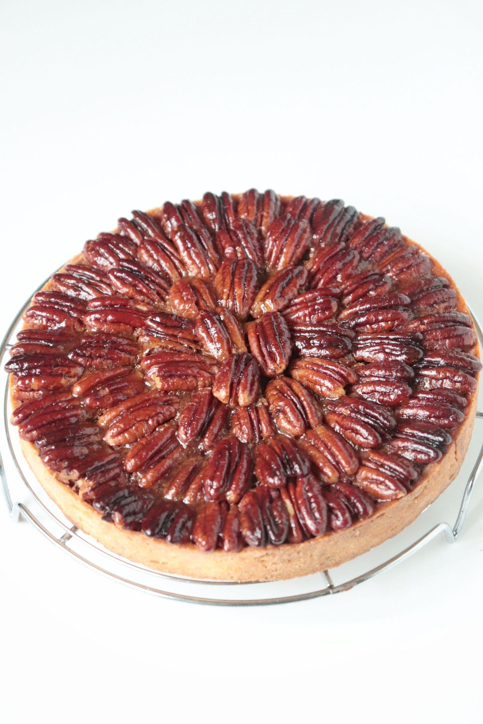 tarte aux noix de p can pecan pie recette olivia. Black Bedroom Furniture Sets. Home Design Ideas