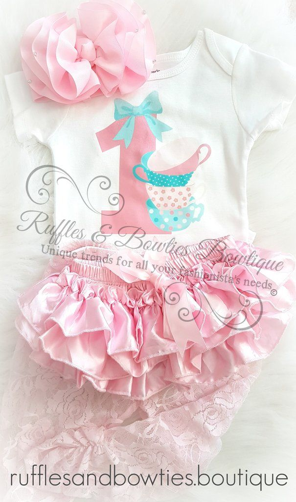 c0841ebe3 Kryssi Kouture Exclusive   Baby Girls Tea for One© First Birthday ...