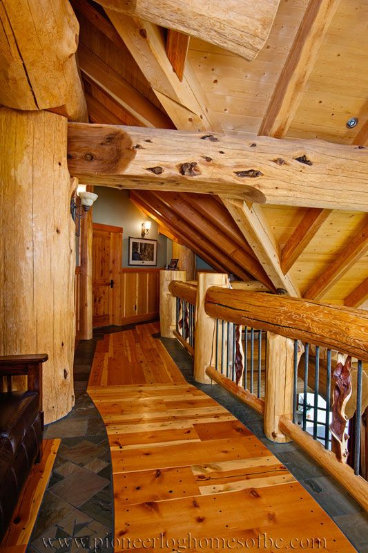 Enjoy our photo gallery of log entrances, hallways, & stairs. They are the…