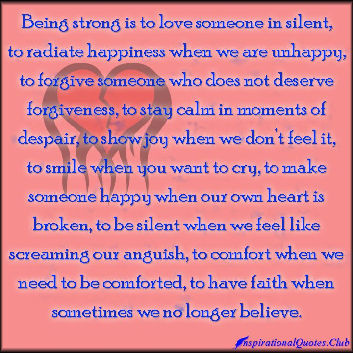 InspirationalQuotes.Club - strength, love, silent, silence ...