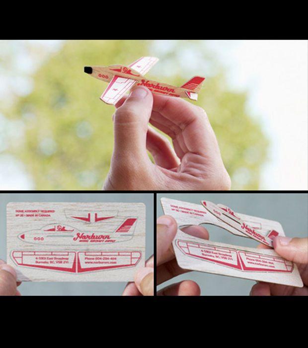 Dcoupez Cette Carte De Visite Et Construisez Un Avion