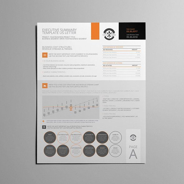 Executive Summary Template Us Letter  Template Adobe Indesign