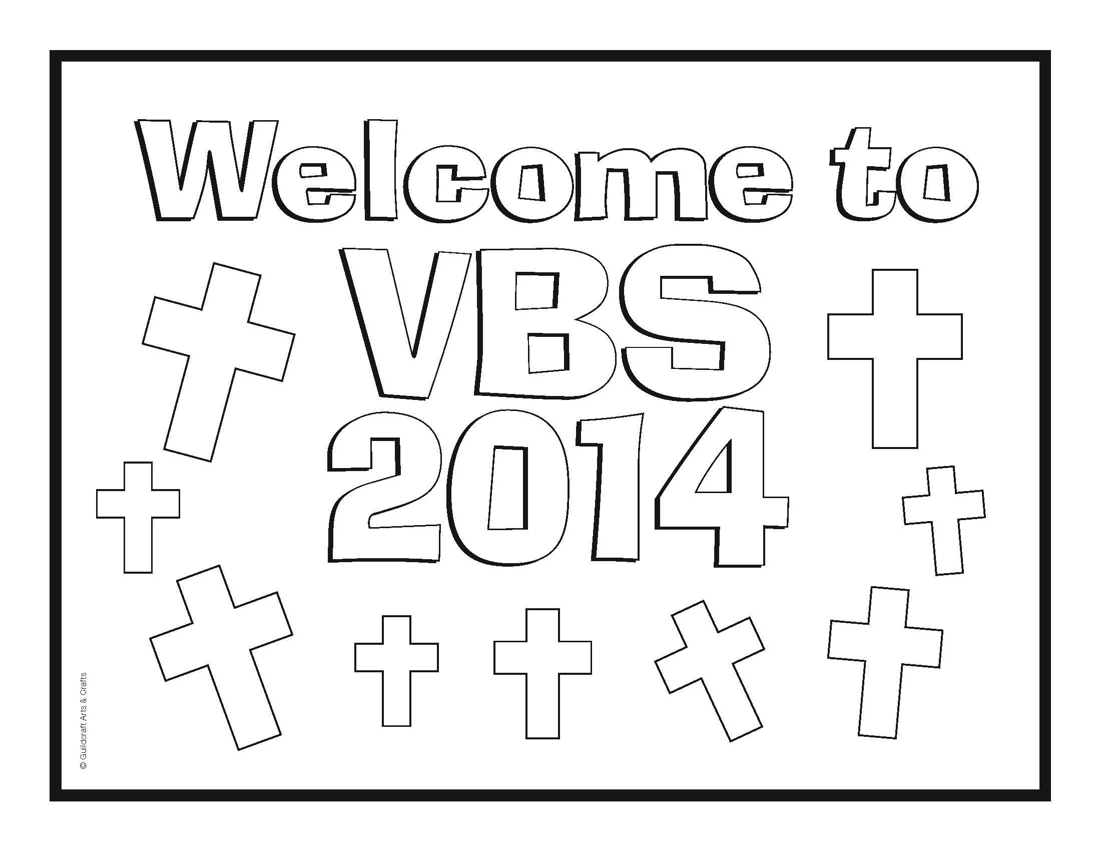 Free #VBS coloring sheets from Guildcraft Arts Crafts! #
